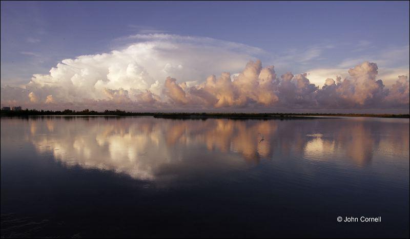 Sunrise;Gulf Storm;Reflection;Water;Clouds;Sky;Blue Sky;Storm