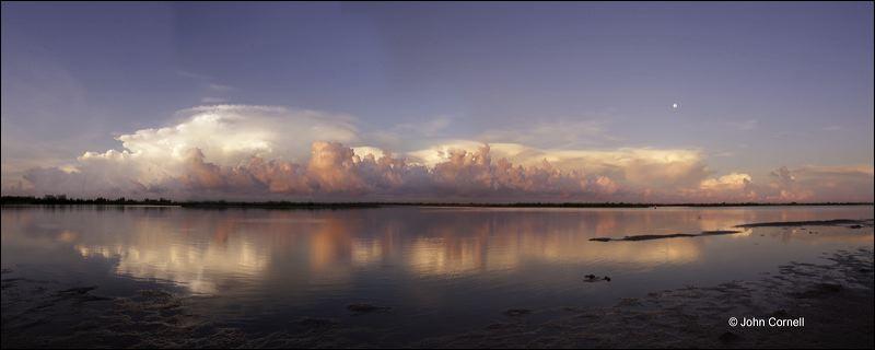 Reflection;Gulf Storm;Sunrise;Water;Clouds;Sky;Blue Sky;Storm