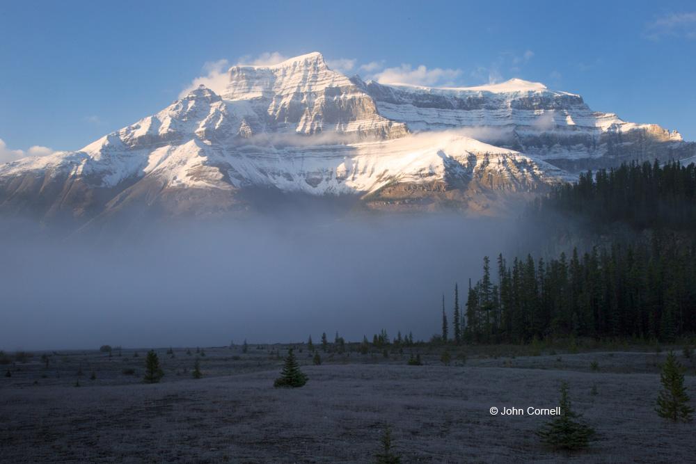 Alberta;Banff National Park;Blue Sky;Canada;Clouds;Fog;Mountains
