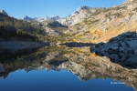 Bishop-Creek-Canyon;Blue-Sky;California;Eastern-Sierra;Fall-Foliage;Reflection;w