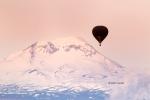 Balloon;Cascade-Mountain-Range;Hot-Air-Balloon;Middle-Sister;Oregon;Snow;Three-S