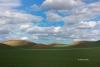 Blue-Sky;Clouds;Grass;Palouse;Scenic;Washington;rolling-hills