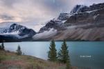 Alberta;Banff-National-Park;Canada;Clouds;Mountains;Waterfowl-Lake;water