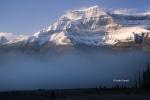 Alberta;Banff-National-Park;Blue-Sky;Canada;Fog;Mountains;Snow