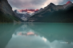 Alberta;Banff-National-Park;Canada;Dawn;Lake-Louise;Mountains;Reflection;Sunrise