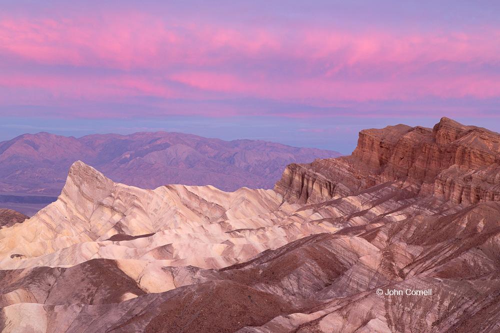 Death Valley National Park;Erosion;Sandstone;Sunrise;Zabriskie Point