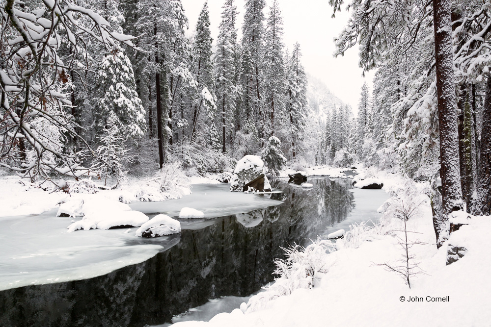 Merced River;Scenic;Snow;Tree;Yosemite National Park