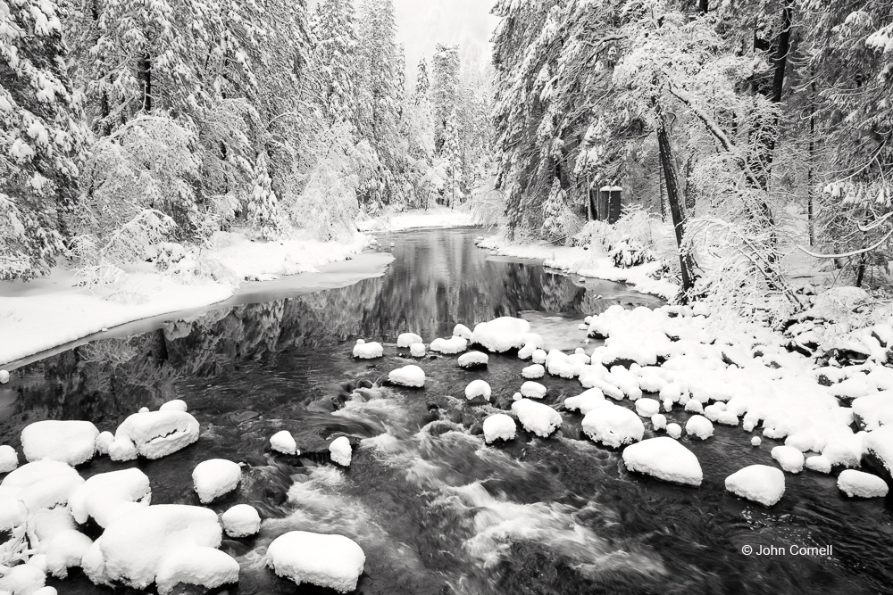 Merced River;Snow;Tree;Yosemite National Park