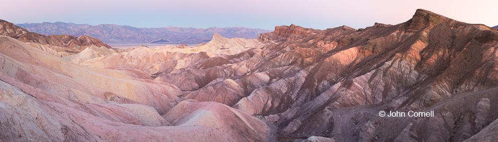 Death Valley National Park;Erosion;Pano;Panoramic;Sandstone;Sunrise;Zabriskie Point
