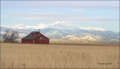 Barn;Colorado;Mountains;Snow;Western-Scenic