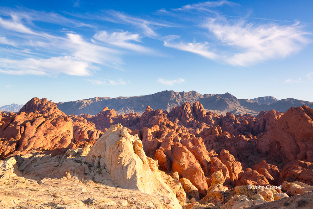Desert;Desert Scenic;Erosion;Nevada;Red Rock;Red Rocks;Sand;Sandstone;Scenic;Valley of Fire State Park;color image;colorful;dry;striation
