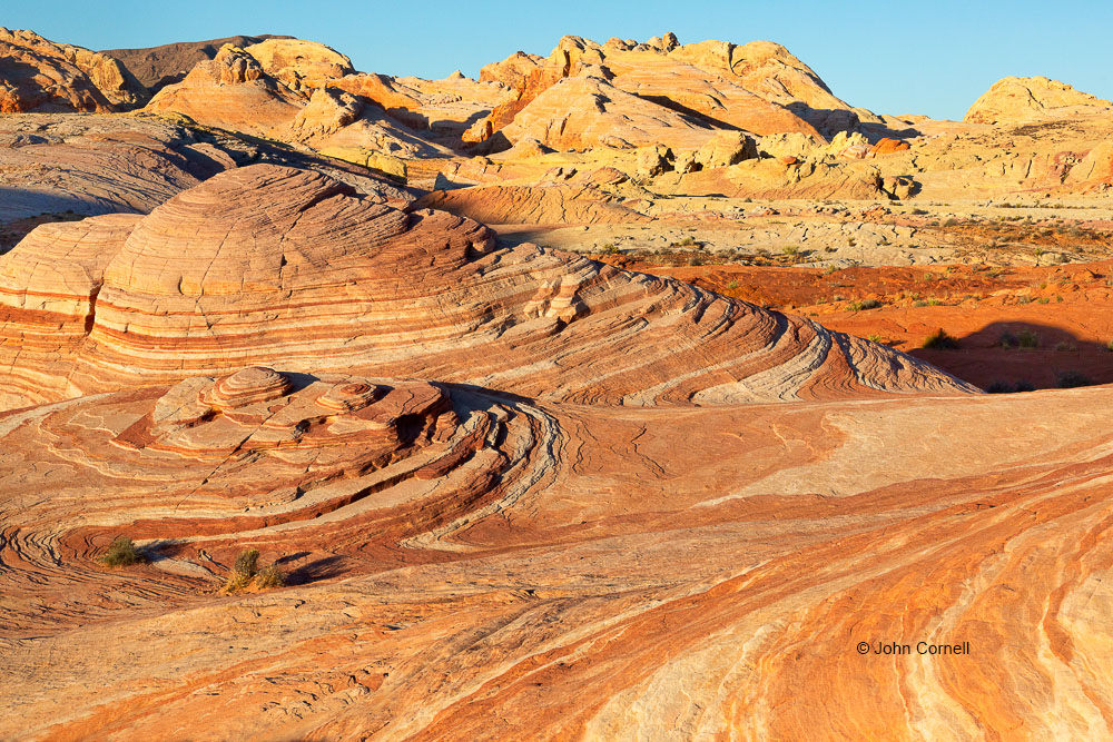 Desert;Desert Scenic;Erosion;Fire Wave;Nevada;Red Rock;Red Rocks;Sand;Sandstone;Scenic;Valley of Fire State Park;color image;colorful;dry;striation