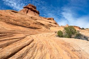 Arches-National-Park;Blue-Sky;Erosion;Garden-of-Eden;Red-Rocks;Sandstone;Utah