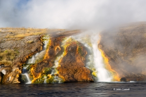 Hot-Springs;Prismatic-Spring;Steam;Wyoming;Yellowstone-National-Park;colored-roc