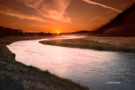 Clouds;Madison-River;Mist;Reflection;Sunrise;Water-Flow;Yellowstone-National-Par