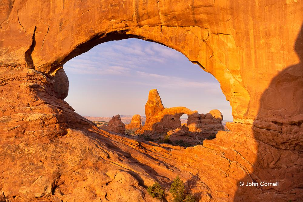 Arches National Park;North Arch;North Window;North Window Arch;Turret Arch;Utah, Arches National Park, Canyon, Delicate Arch, Desert, Desert Scenic, Erosion, Red Rock, Red Rocks, Utah